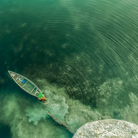 single dot make a thousand wave ...  by Shyama Dev - Landscapes Waterscapes ( photos, riverside, nature up close, boats boating, photography )