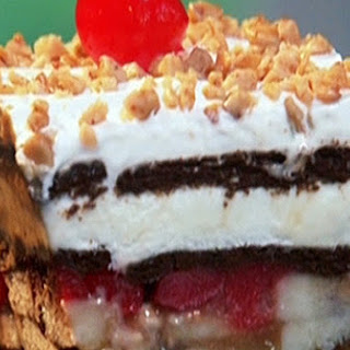 Ice Cream Banana Split Cake