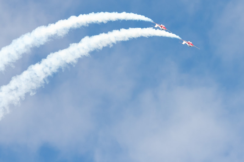 Photo: From the 2012 Waterloo Region air show. This is the only blue sky we saw!