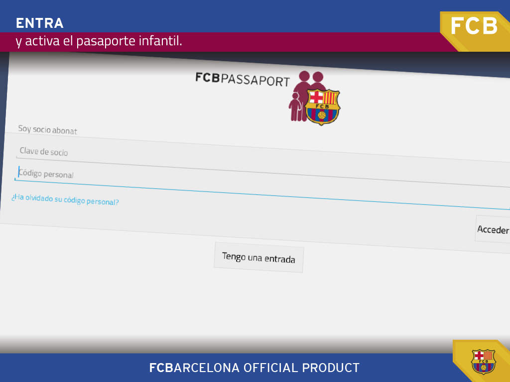 FCB Passaport: captura de pantalla