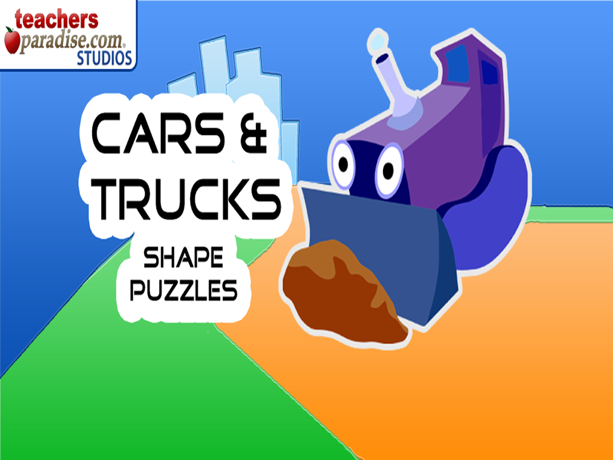 Cars and Trucks! Shape Puzzles- screenshot