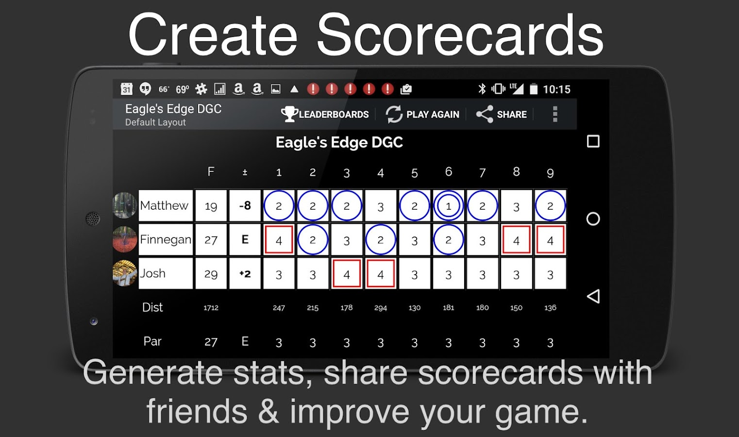 UDisc Disc Golf App- screenshot