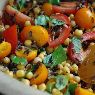 Tomato Chickpea And Wild Rice Salad.
