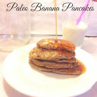 Easy Banana Pancakes (Gluten Free, Paleo).