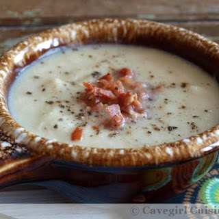 Roasted Cauliflower and Bacon Soup.