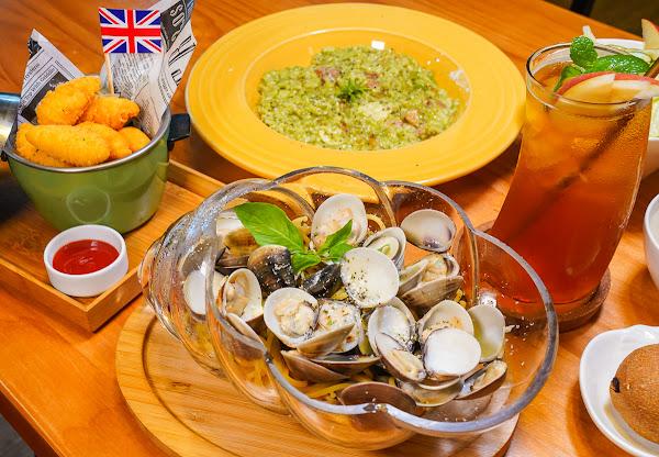 大貝殼裡的霸氣蛤蜊麵~夏季限定芒果金磚吐司-嗜好咖啡坊
