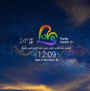 Rainbow Love theme widget screenshot 1