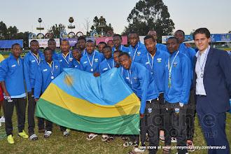 Photo: The Amavubi with their runner up medals [Rwanda vs Uganda, CECAFA 2015 Final, 5 Dec 2015 in Addis Ababa, Ethiopia.  Photo © Darren McKinstry 2015, www.XtraTimeSports.net]