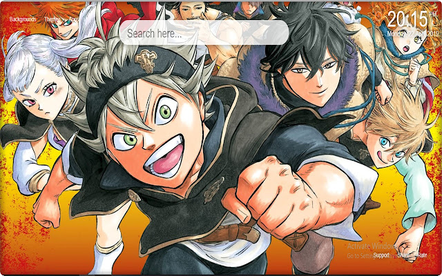 Black Clover Anime Wallpapers HD New Tab