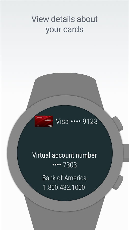 Screenshots of Android Pay for iPhone