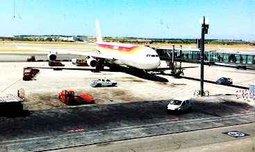 Photo: Iberia Airlines.  Landed in Madrid safely!