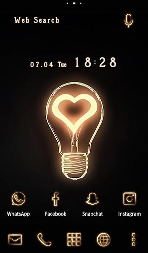 Cute Wallpaper Heart Bulb Theme 1.0.0 Windows u7528 1