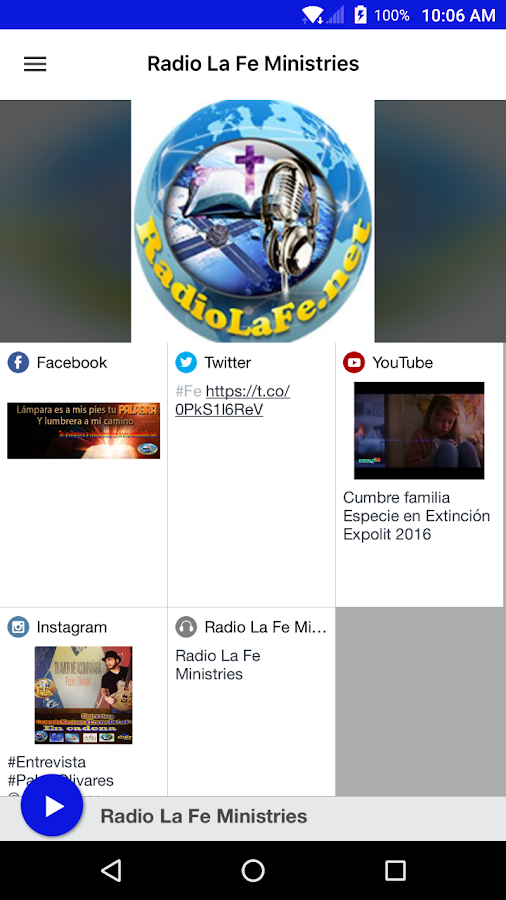 Radio La Fe Ministries- screenshot
