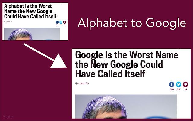 Alphabet to Google