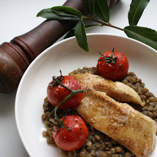 Pan-fried Fish With Lentils.