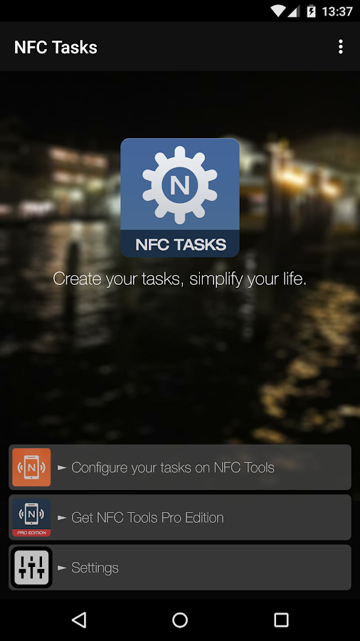 NFC Tasks- screenshot
