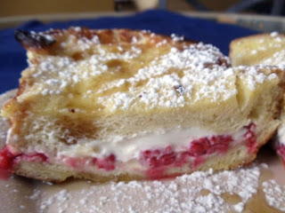 Raspberry And Cream Cheese Stuffed French Toast Recipe