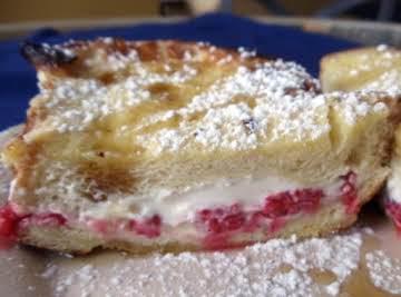 Raspberry and Cream Cheese Stuffed French Toast