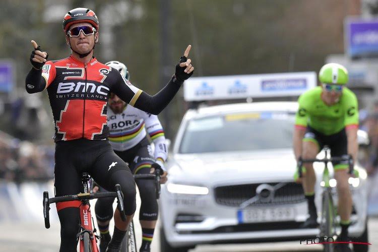 België boven in E3 Prijs: Van Avermaet vloert Gilbert en Naesen na bloedstollende sprint