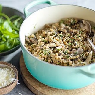 Leftover Chicken, Barley And Mushroom Risotto.