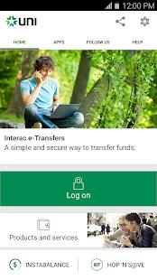 UNI Mobile Banking - náhled