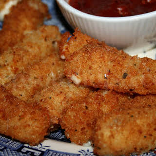 Fried Mozzarella Cheese Sticks.