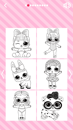 Cute Dolls Gliter Coloring Pages screenshot 1
