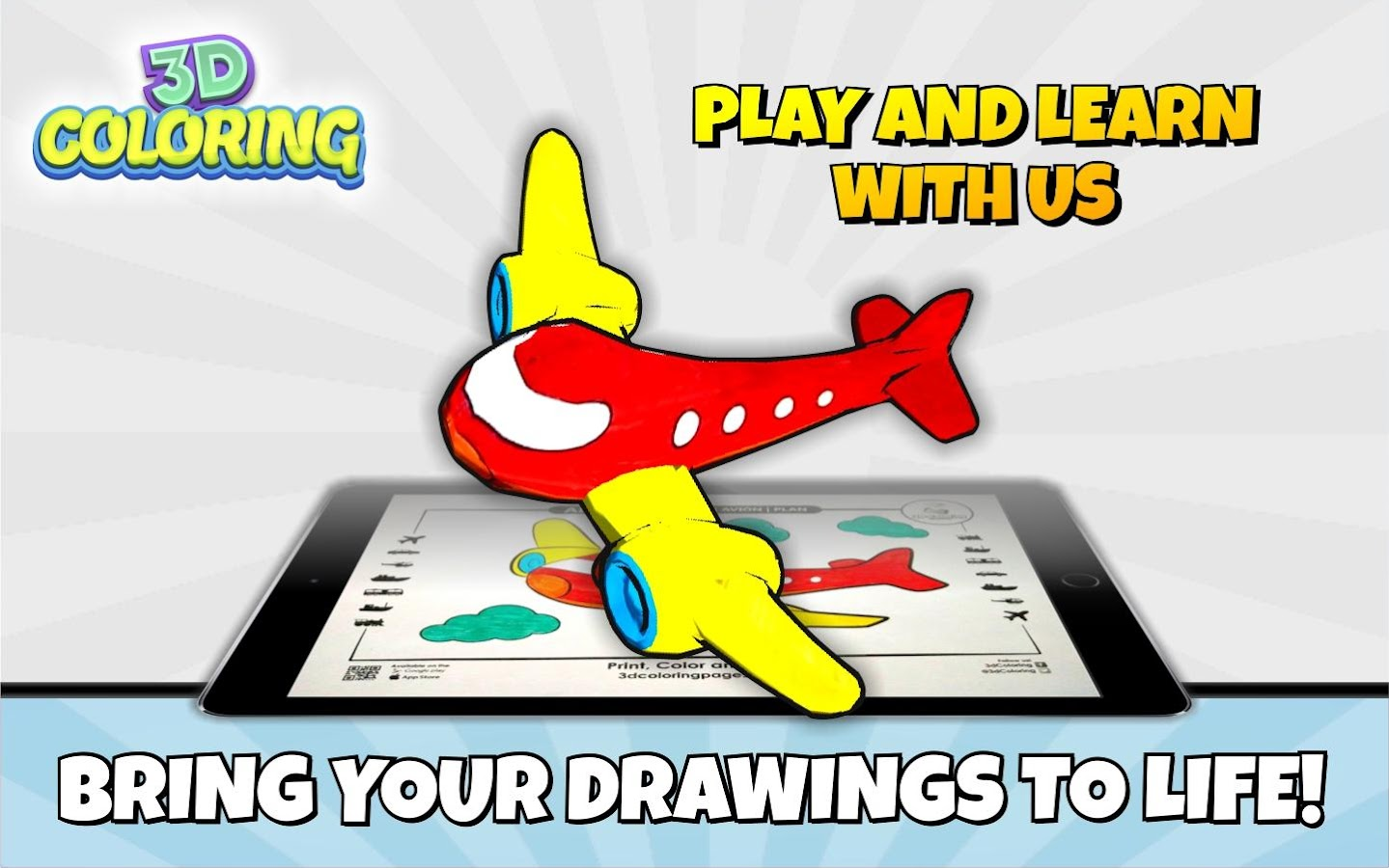 3D Coloring Pages  - AR App- screenshot
