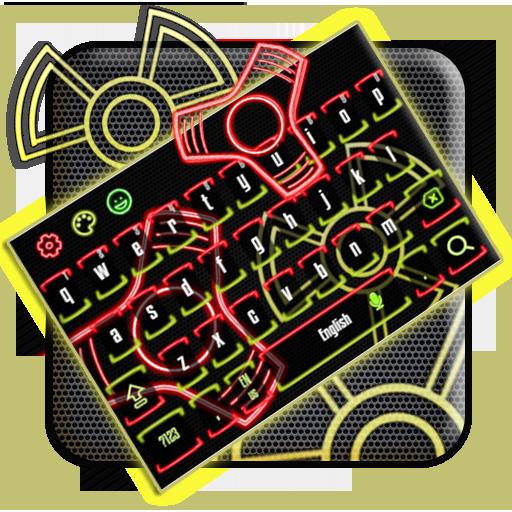 Fidget Spinner Neon Keyboard