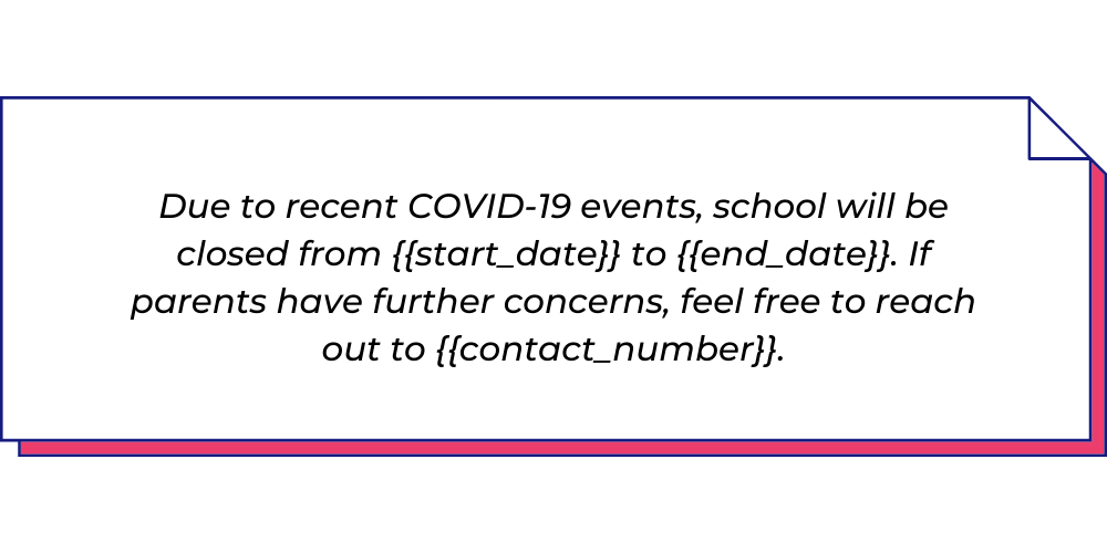 Use this COVID-19 WhatsApp template for the Education sector.