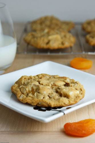 "Apricot and White Chocolate Oatmeal Cookies ""The apricot and white chocolate oatmeal..."