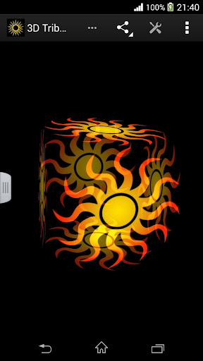 3D Tribal Sun Live Wallpaper