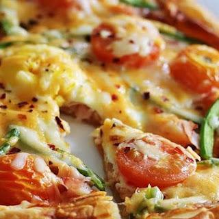 Ham and Egg Pizza Tart