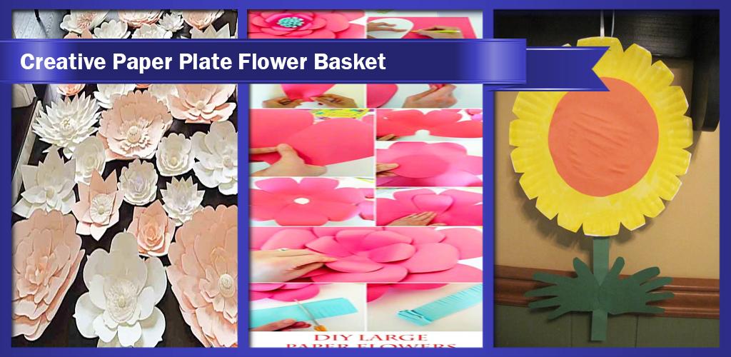 Creative paper plate flower basket apk download comsegold creative paper plate flower basket apk mightylinksfo