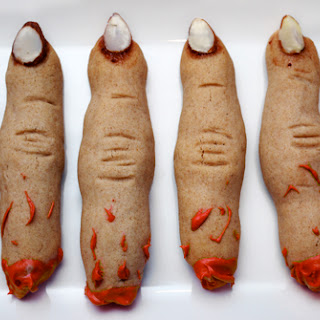 Whole-Wheat Witch Finger Cookies.