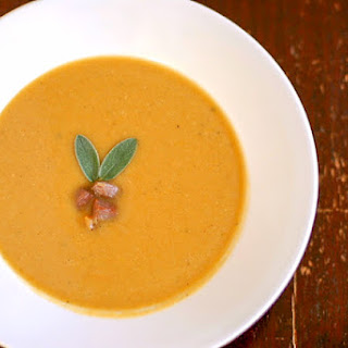Roasted Pumpkin and Cannellini Bean soup