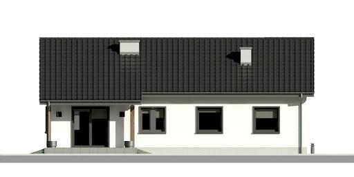 Dom przy Bukowej 17 - Elewacja tylna