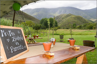 Photo: Basic decor for a rustic country wedding.