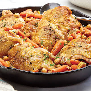 One-Skillet Lemon Chicken with Chickpeas.