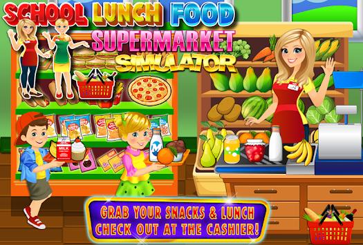 School Lunch Food Supermarket