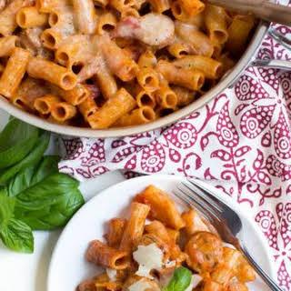 Chicken Rigatoni Pasta Skillet.