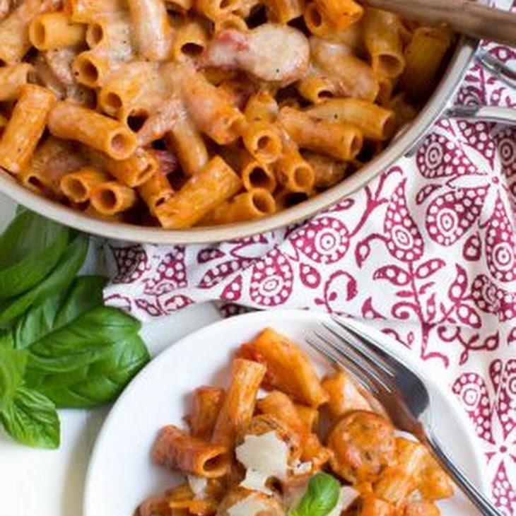 Chicken Rigatoni Pasta Skillet Recipe