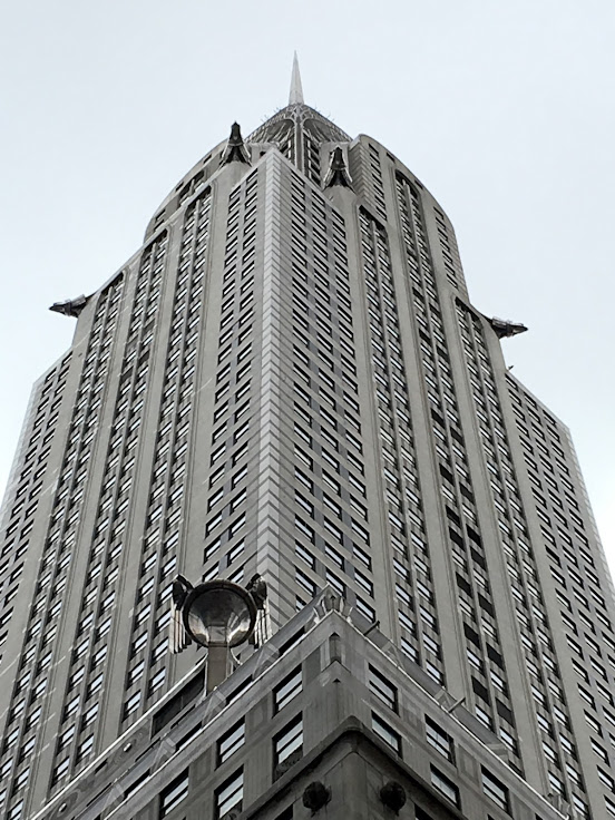 Looking up at the Chrysler Building. Note the giant winged wheels on the 31st floor.