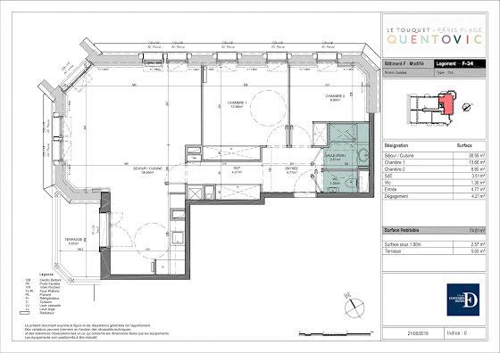 Vente appartement 4 pièces 74,81 m2