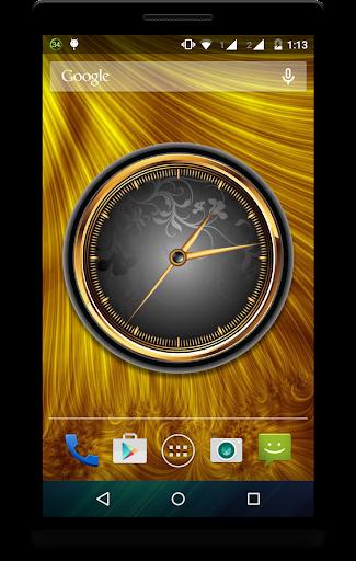 Gold Clock Live Wallpaper