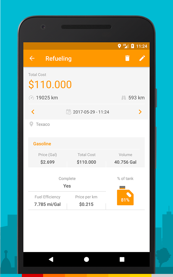 Drivvo – Car management, Fuel log, Find Cheap Gas Screenshot 2