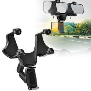 Suport auto pentru telefon cu prindere pe oglinda retrovizoare
