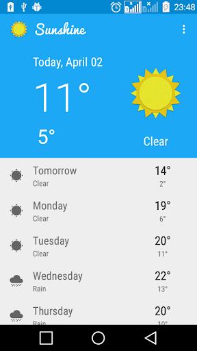 Weather Forecast Sunshine2