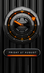 FIRE Laser Analog Clock Widget Screenshot