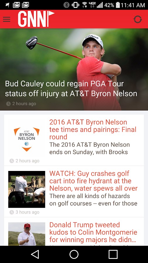 Golf News Net App- screenshot